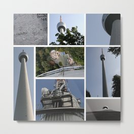 Stuttgart TV Tower Metal Print