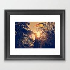 sunshine umbrella Framed Art Print