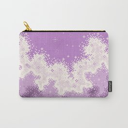 Lavender Chevron Queer Pride Galaxy Carry-All Pouch