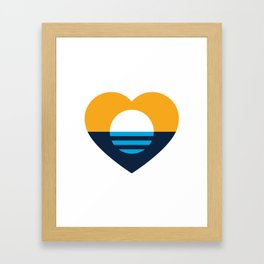 Heart of MKE - People's Flag of Milwaukee Framed Art Print