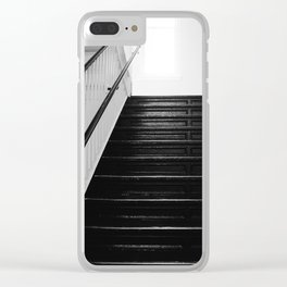Industrial Stairwell Clear iPhone Case