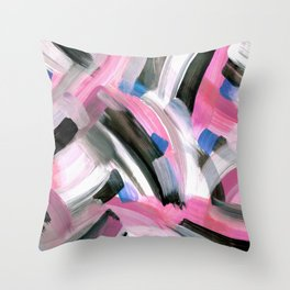 Crossing Pink Throw Pillow