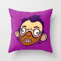 hannibal Throw Pillows featuring Hannibal by Artistic Dyslexia