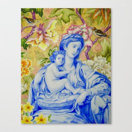 Madonna and Child with Finches Canvas Print