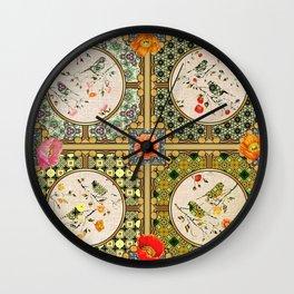 Natures Bird Paterns  Wall Clock