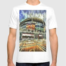 Arsenal FC Emirates Stadium Art Mens Fitted Tee White MEDIUM