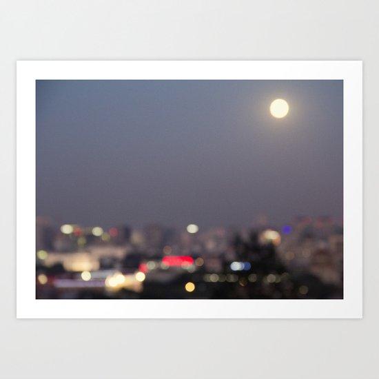 Beijing at Night Art Print