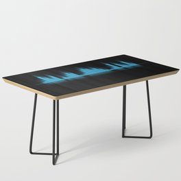 Cool Blue Graphic Equalizer Music on black Coffee Table
