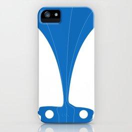 Silhouette Racers - Mazda MX5 in Blue iPhone Case