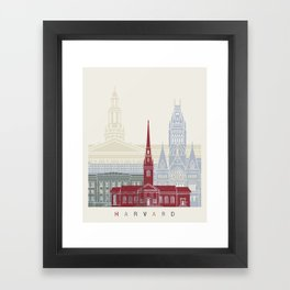 Harvard skyline poster Framed Art Print