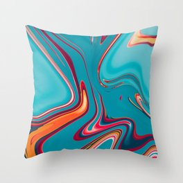 Liquid Marble Copper Throw Pillow