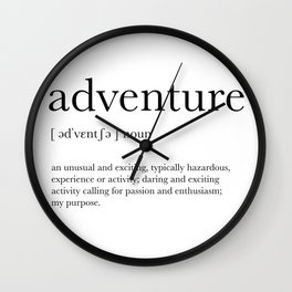 Adventure Definition Wall Clock