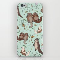 otters iPhone & iPod Skins featuring Sea Otters by Nemki