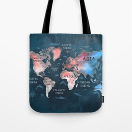 world map 45 Tote Bag