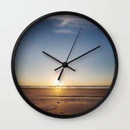 Beach Walk at Sunrise Wall Clock