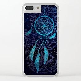 Hamsá Hand Clear iPhone Case