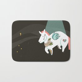 Tattooed horse Bath Mat
