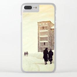 Winterland-wonderland Clear iPhone Case