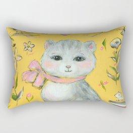 Cat and kitten and toys Rectangular Pillow