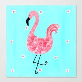 Whimsical Pink Flamingo Canvas Print