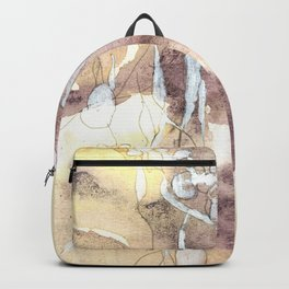Softness - Abstract Natural Ink Watercolour Backpack