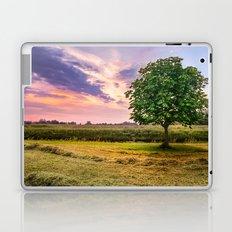 Green Tree and Sunset Sky Laptop & iPad Skin