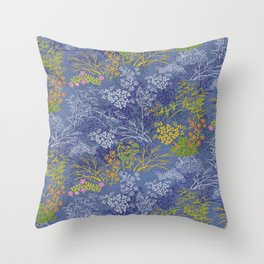 Vintage Japanese floral pattern Throw Pillow