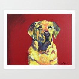 Miller the Labrador Art Print