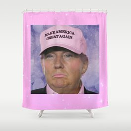Make America Great Again - Kawaii Trump Shower Curtain