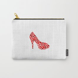 Love my heels- shoe with red hearts Carry-All Pouch