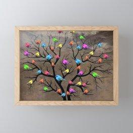 Colorful birds Framed Mini Art Print