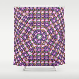 Kaleidoscope Finger Spinners Mandala Pattern Shower Curtain