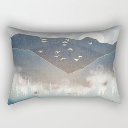 Blue Mountain Mist Rectangular Pillow