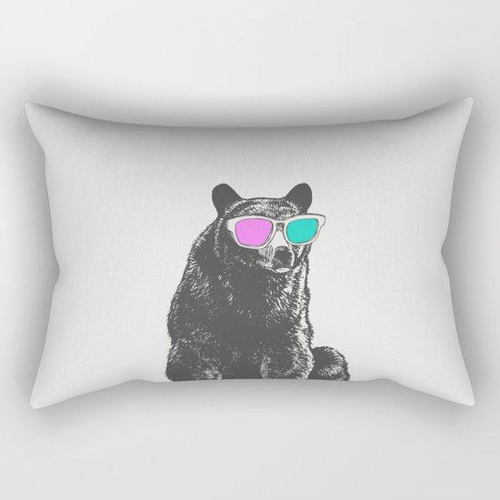 3D is Un-bear-able  Rectangular Pillow