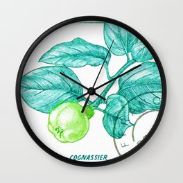 Branch of a Quince tree in Summer Wall Clock