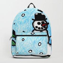 Snowman Greetings Backpack