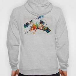 Colorful Horse Art - Wild Paint - By Sharon Cummings Hoody