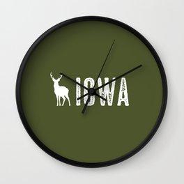Deer: Iowa Wall Clock