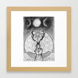 mother of crystals/ earth queen Framed Art Print