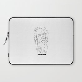 Rabindranath Tagore Charcoal Drawing Laptop Sleeve