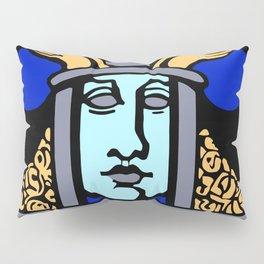 Jugendstil Einfuhrmesse Frankfurt blue Pillow Sham
