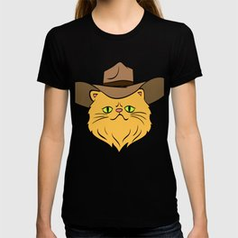 Hey! A Perfect Gift for Cat Lovers A Persian Cat Hat T-shirt Design Kitty Kitten Meow Paws Animals T-shirt