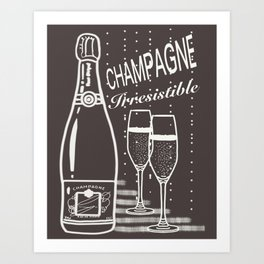 Champagne irresistible cup of champagne Art Print