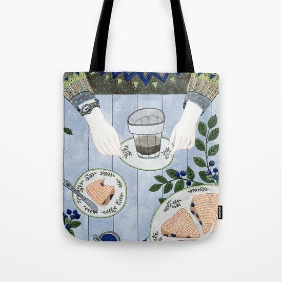 Blueberry Scones Tote Bag