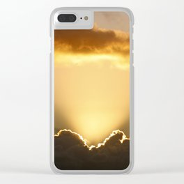 Sun rays and dark clouds Clear iPhone Case
