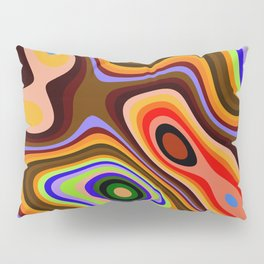 Colourful fluid abstract Pillow Sham
