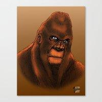 sasquatch Canvas Prints featuring Sasquatch by Luke Kegley