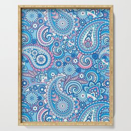 Blue Paisley Serving Tray
