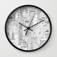 City Doodle (white) Wall Clock