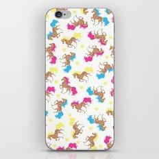 Retro horse pattern iPhone & iPod Skin